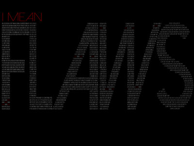 """FLAWS"" Lyric T- Shirt main photo"