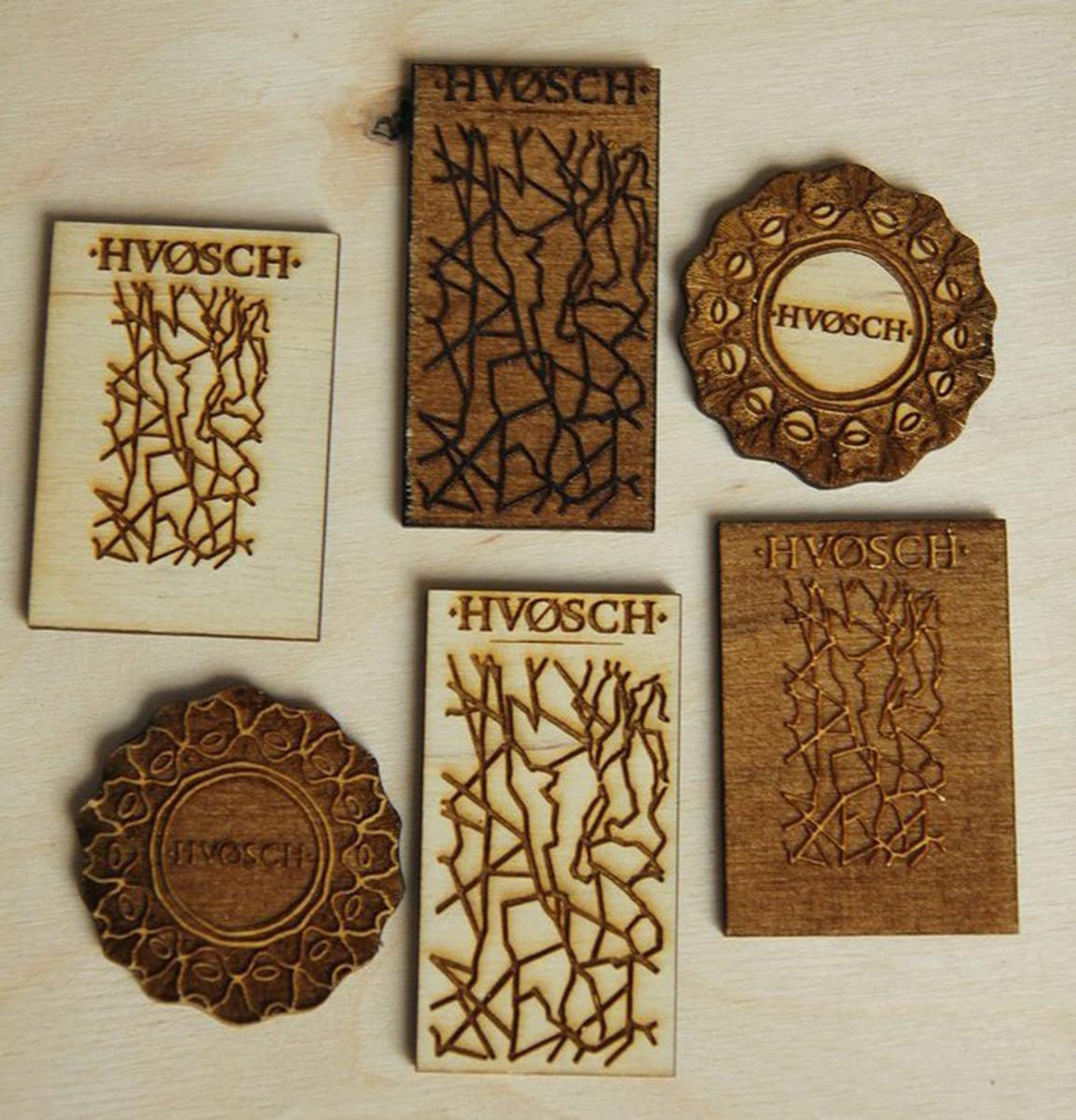wooden magnet hvØsch