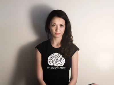 MOZYK single colored logo on a T-shirt main photo