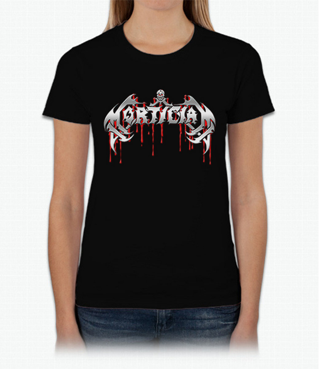 Silver Blood Logo Girly T Shirt From Mortician