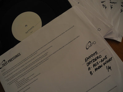 ENV005 - Dayzero - A. ALS-ANS AA. Know What TEST PRESSES main photo