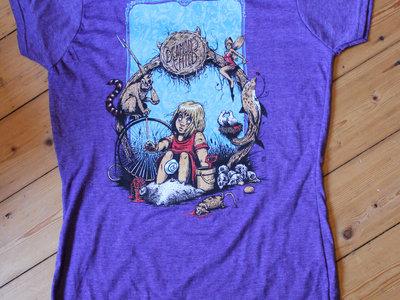 First Album Design T-Shirt - Ladies Heather Purple main photo