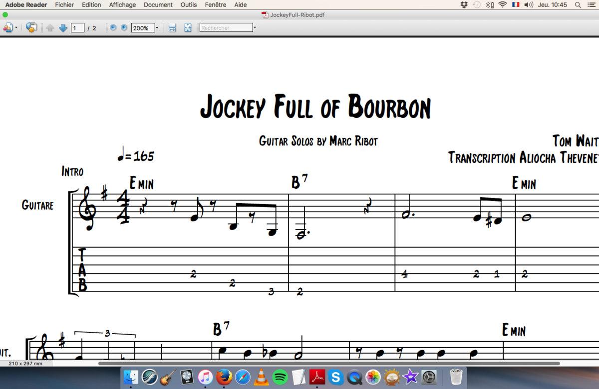 Jockey Full Of Bourbon Tom Waits Marc Ribot Aliocha Thevenet
