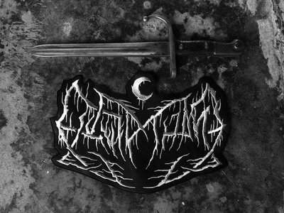 12x8 Leviathan faux Leather back patch main photo