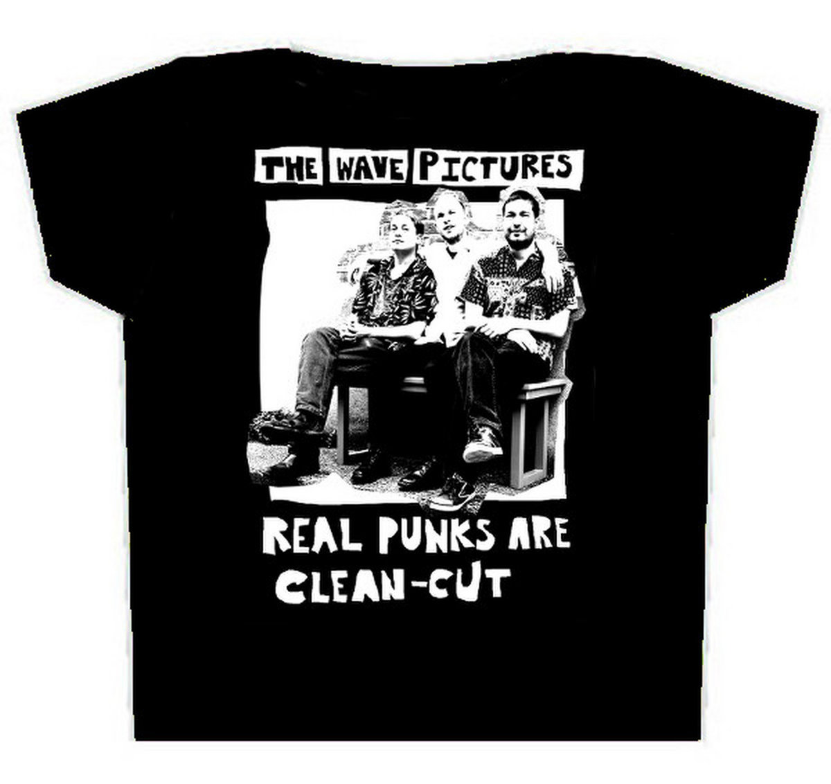 The Wave Pictures 'Real Punks Are Clean Cut' T-shirt, White Print ...