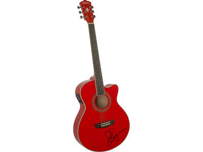 Signed Red Acoustic Guitar main photo