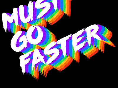 Must Go Faster rainbow logo Sticker main photo