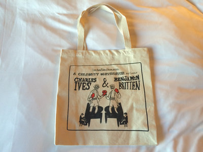 Charles Ives • Benjamin Britten Celebrity Death Match Tote Bag main photo