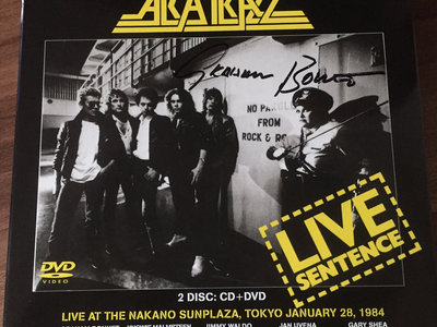 Alcatrazz - Live Sentence Deluxe Cd/Dvd set SIGNED by Graham Bonnet main photo