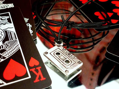 Leather Necklace with our logo tape (free nickel) main photo