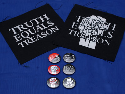 The Truth Equals Treason 'full monty' package (2 x patches & 6 x badges) main photo