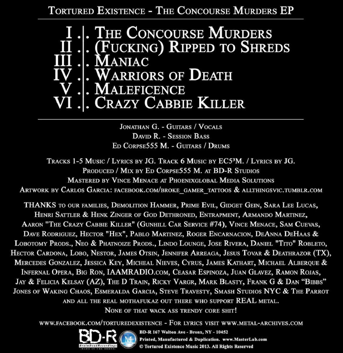 The Concourse Murders | Tortured Existence