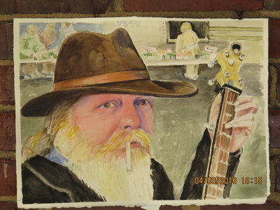 Dave Portrait Watercolor by Josephine Donley Postcard main photo