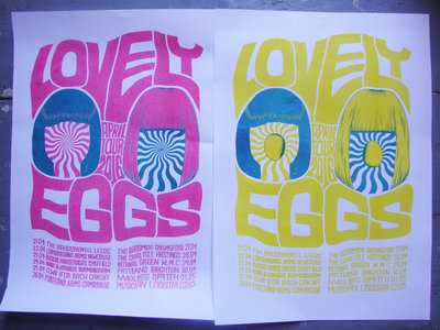 The Lovely Eggs - April 2016 Tour (A3 Riso Print) main photo