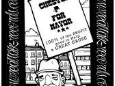CHESTER P FOR MAYOR - SWEATSHIRT - BLACK & WHITE - LTD EDITION photo