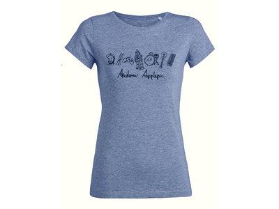 Organic Ladies T-Shirt - Mid Heather Blue main photo