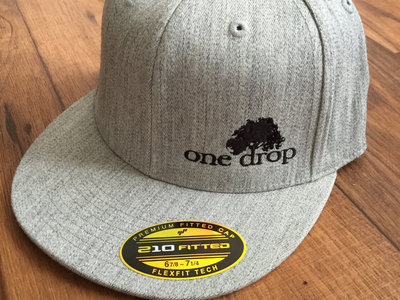Ond Drop embroidered logo hat (Black on Gray) main photo
