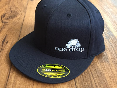One Drop logo embroidered hat (white on navy) main photo