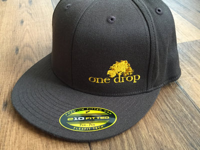 One Drop logo embroidered hat (Gold on Brown) main photo