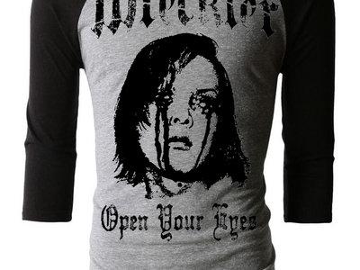 """""""Open Your Eyes"""" 3/4 Sleeve Raglan Tee Shirt main photo"""