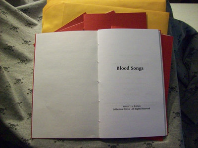 """""""Blood Songs""""--Poetry Chapbook.  Limited run of 50 copies. main photo"""