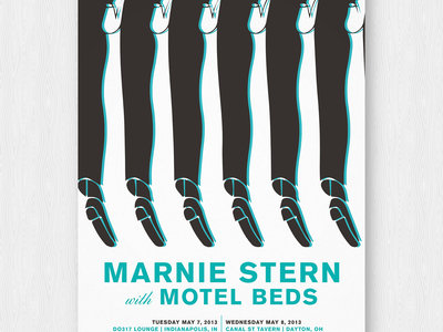 Motel Beds/Marnie Stern silk-screened poster main photo