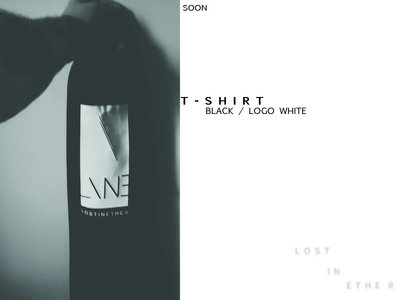 Lost In Ether / T-shirt black , logo white main photo