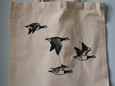 eco cotton 'From The Skein' bag with geese print photo