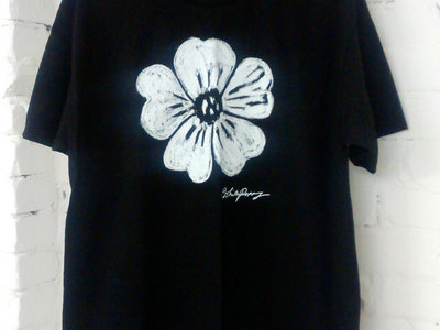 """White Poppy"" on Back shirt main photo"