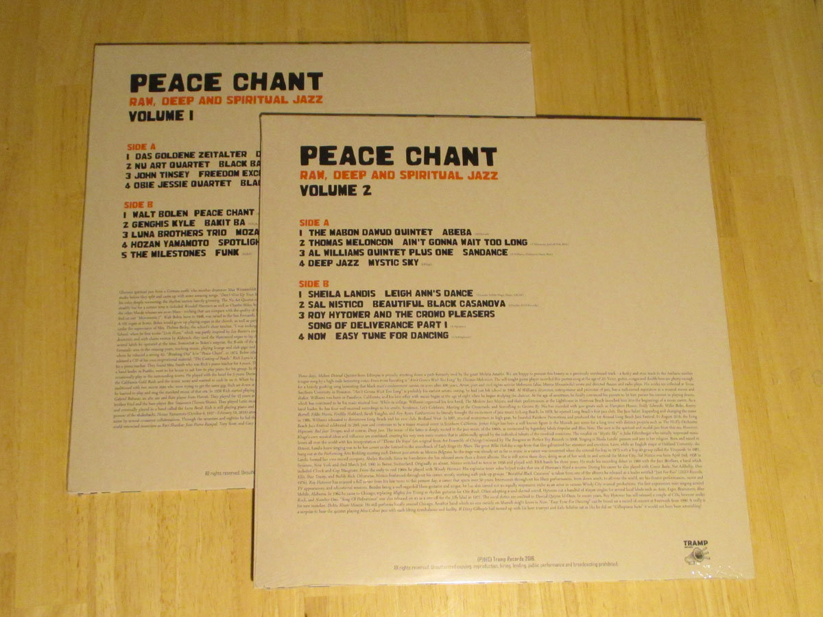 peace chant raw deep and spiritual jazz vol 1 2 tramp rec