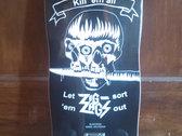 "Zig Zags X Eliminator ""Kill 'Em All"" Skate Deck photo"