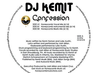 "Honeycomb Music Presents: DJ Kemit Confession - 12"" Vinyl - New Release! main photo"