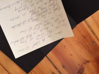 Skin on The Wheel of Time handwritten lyrics (1 of 1) main photo