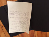 Skin on The Wheel of Time handwritten lyrics (1 of 1) photo