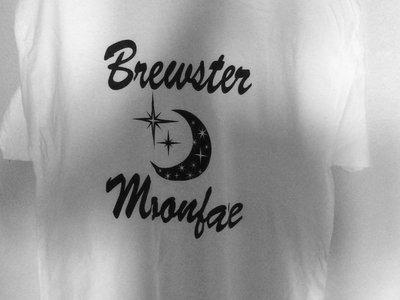 Blue and White Quarter Moon Design T-Shirt main photo