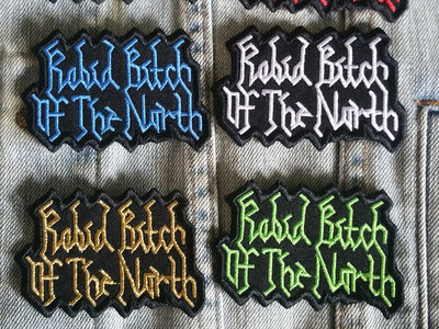 Rabid Bitch Of The North - Logo patch (multi-colours) main photo