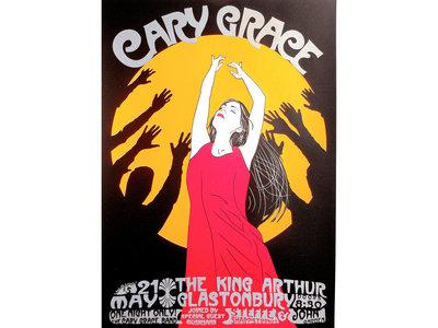 Cary Grace @ The King Arthur Glastonbury Limited Edition Art Print (A3) main photo