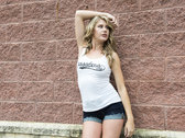 Girls Tank Top - White Pasadena 'Music' Logo photo