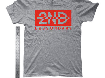 Lessondary Logo Tee [Red x Grey] main photo