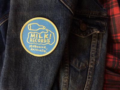 MILK! RECORDS milk logo PATCH main photo