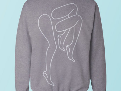 Legs Logo Crew Neck - White on Grey main photo