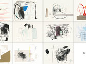 Bag with 11 drawings photo