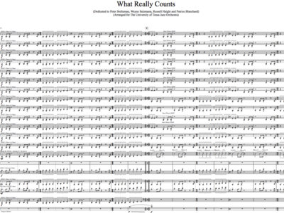 Jazz Orchestra - What Really Counts - Study Score main photo
