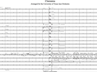 Jazz Orchestra - Clareanna - Study Score main photo