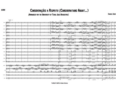 Jazz Orchestra - Considerations About - Study Score main photo