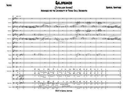 Jazz Orchestra - Galopeando - Study Score main photo
