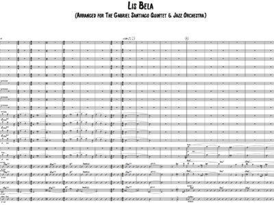 Jazz Orchestra - Lisbela - Study Score main photo