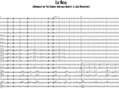 Jazz Orchestra - Lisbela - Score & Parts main photo