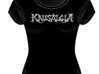 Logo T-shirt Black Girlie fit main photo