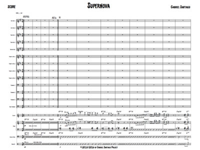 Jazz Orchestra - Supernova - Study Score main photo